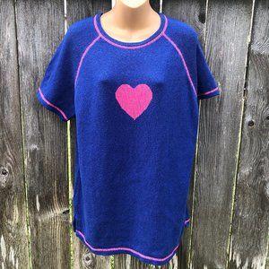 The Quacker Factory Short Sleeve Sweater w/ Heart